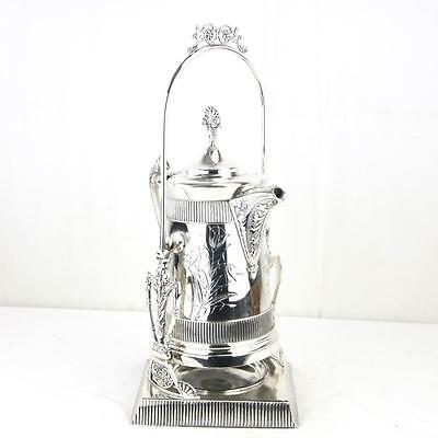 LARGE Pairpoint Aesthetic Water Pitcher Tilt / Tipping Silverplate Victorian