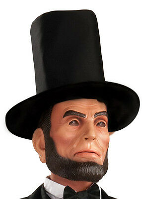 President Abraham Lincoln Latex Costume Mask With Hat Adult One Size