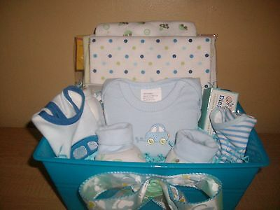 "Baby Boy ""Let's Go Bye Bye"" Baby Shower Gift Basket"