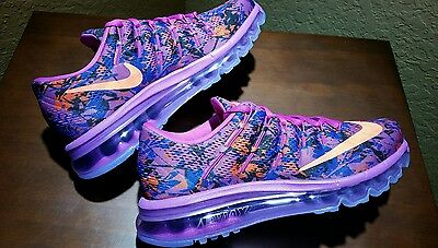 New Women's Nike Air Max 2016 Print Running Shoes Sz 8.5