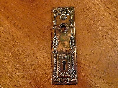 Antique original rare 1890's Yale & Towne copper over brass door plate