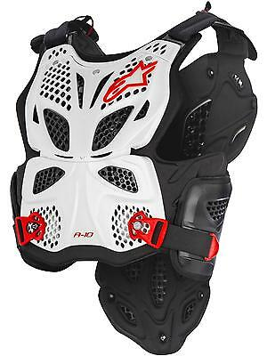 Alpinestars White-Black-Red 2017 A10 Full MX Chest Protector