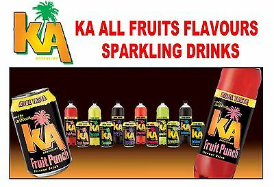 KA Sparkling All Fruits Flavour Drink 288ml 330ml 500ml & 2Litre WHOLESALE Price