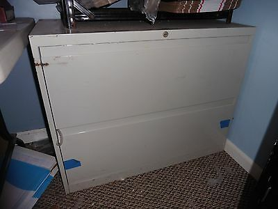 SteelCase File cabinet lateral 2 drawers tan @@@