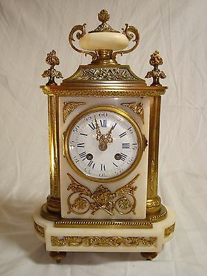 Gilt French Bronze and marble Clock from mid - end 1800