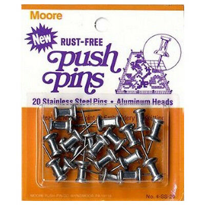 Moore Push-Pin Company Mp4Ss20  Moore Pushpin 1/2 Inch Stainless Steel 20 Per...
