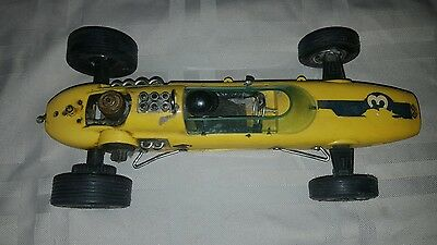 VINTAGE WEN MAC AMF LOTUS GAS POWERED RACE CAR 1960's - 70's INDY 500 YELLOW