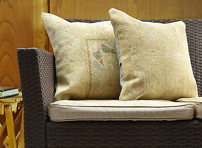 Turkish Hand Knotted Pillow Cover Cushion Covers Handmade Bed Sofa Couch Pillows
