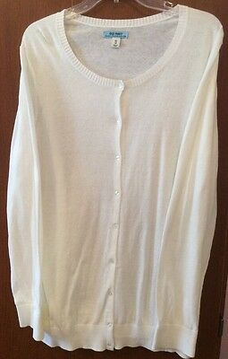 Old Navy Maternity Button Front White Cardigan Plus Size XXL 2XL~ Never Worn