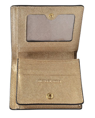 **GOLD*** CARRYALL MICHAEL Michael Kors Jet Set Travel Flap Card Holder