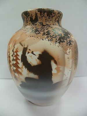 Navajo Handpainted Pottery (Cedar Mesa-Calling Spirits #69084) w/COA Made in USA