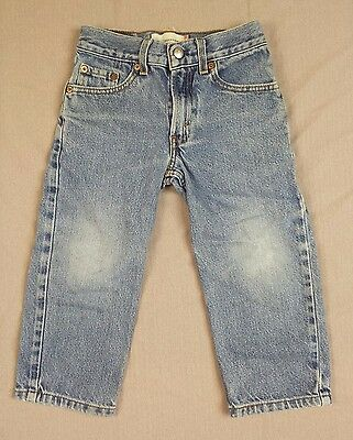 Levis 550 Boys Size 4 Regular Blue Jeans Relaxed Fit