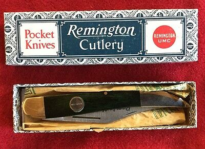 VINTAGE KNIFE REMINGTON R-1618 BROWN LARGE TOOTHPICK W/ BOX 1 Of 400