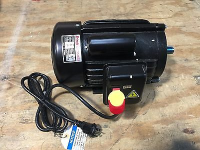 Grizzly Electric Motor 3 Hp, 3450 Rpm, Single Phase 240 Volt