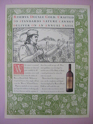 1994 Riserva Ducale Gold from the Tuscan Estates of Ruffino Wine Print Ad Page