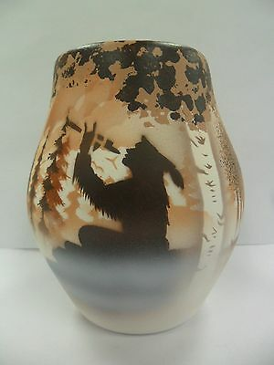 Navajo Handpainted Pottery (Cedar Mesa-Calling Spirits #69021) w/COA Made in USA
