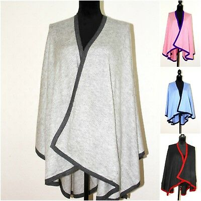 Cashmere Poncho Cashmere Cape Cardigan Wrap Ladies Serape Travel Blanket Onesize