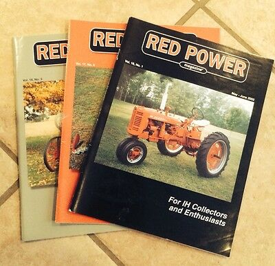 Red Power Magazines International Harvester Farmall Tractor Lot Of Two 2003