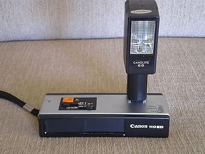 Canon 110ED 20 -Vintage 1960s Instamatic film camera - with flash and case