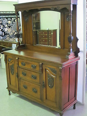 Antique Walnut Sideboard Circa 1870