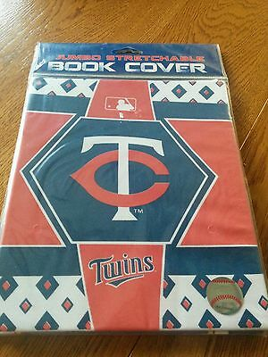 Minnesota Twins Jumbo stretchable Book cover books- 8x10 or larger NEW