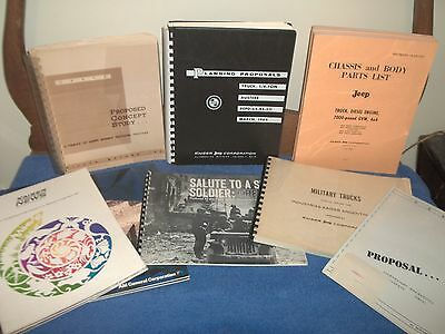 Lot Of Jeep Kaiser Willys Books, Proposals, Concept Study
