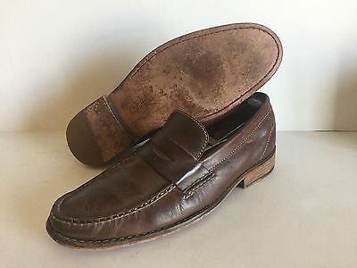 Mens COLE HAAN NIKE AIR Brown Leather Loafers Dress Shoes Size 9 M
