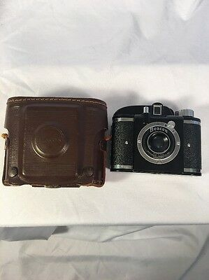 Beacon Camera 1940s Vintage With Leather Case No Strap
