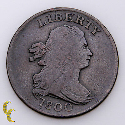 1800 Draped Bust Liberty Half Cent Coin (VG) Very good Condition