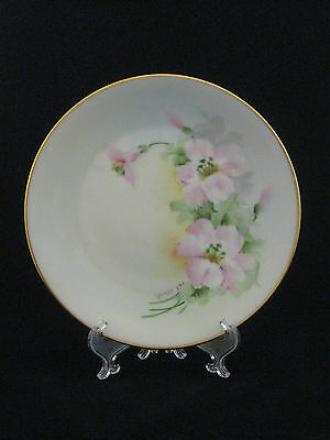 Antique Victoria Hand Painted Fine Porcelain Plate Austria Signed by Artist