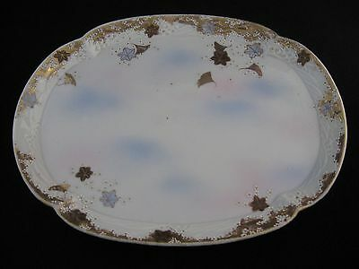 Antique Porcelain Hand Painted Large Tray Made in Japan