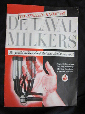 """""""Controlled Milking"""" with De Laval Milkers Advertising Brochure"""