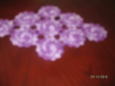 Crocheted Doily - Shades Of Purple