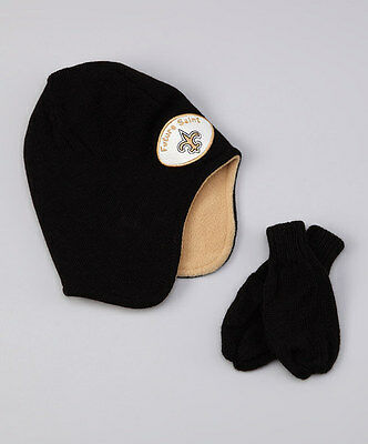 Last one...New Orleans Saints Toddler Knit Set - Beanie & Mittens NWT