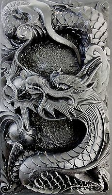 """Chinese Dragon's sculpture INK STONE """"SUZURI"""" Calligraphy tool 0217001"""
