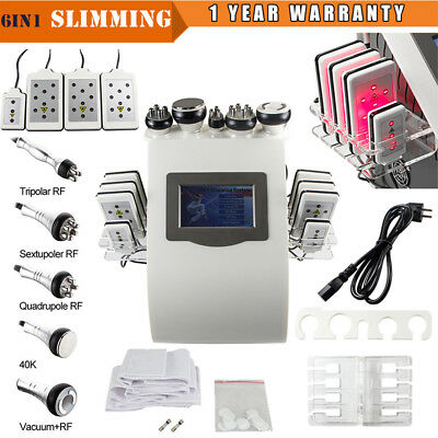 Ultrasonic Vacuum Cavitation RF Radio Frequency 6in1  Slimming Cellulite Machine