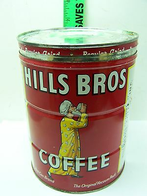 Vintage Hills Bros Red Can Brand 2 Lb Can Empty
