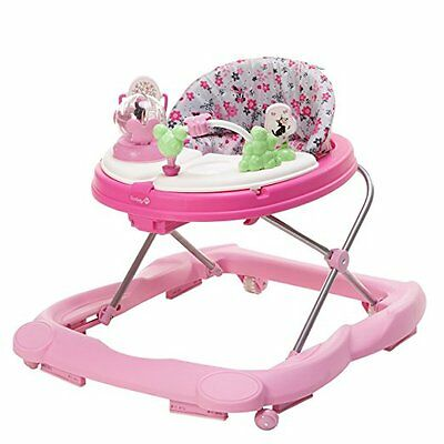 Disney Minnie Baby Girl Adjustable Walker Pink with Music Light w/ Snack Tray