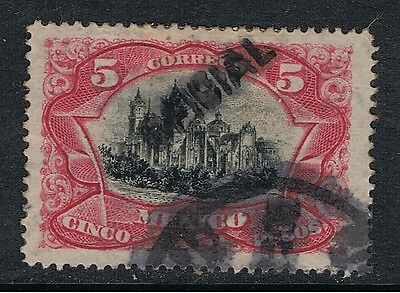 MEXICO 1900 - 10 5 Pesos CATHEDRAL - OVERPRINTED OFICIAL