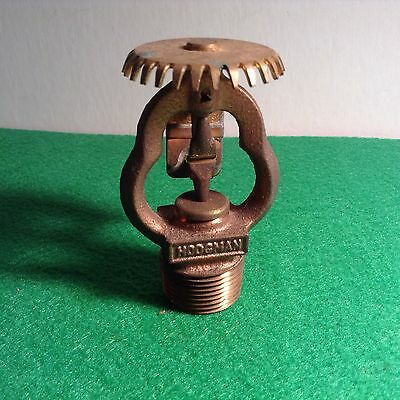 Vintage All Brass Hodgman 843A Upright Fire Sprinkler Head 165 Degrees 1973