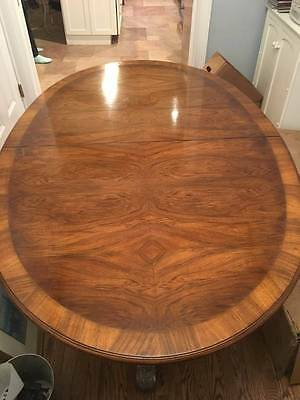 Vintage Karges Walnut Dining Table and set of 6 chairs