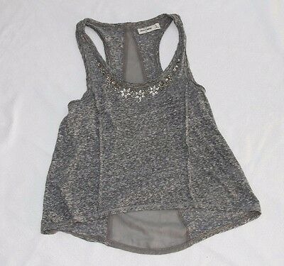 Abercrombie Size Extra Large Girls Top Shirt Heather Grey Pre-owned