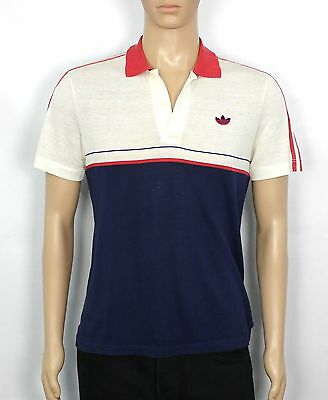 Vintage Adidas Originals Trefoil Old School 80S Polo Shirt Size M Rare (St156)