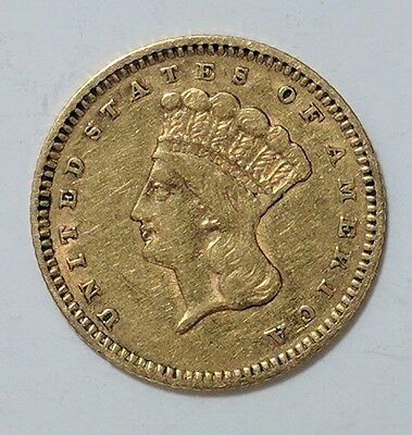 1862 Gold Dollar $1 XF!!!