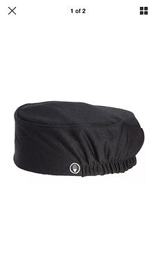 (4) Chef Works Cool Vent Beanie hat- Black