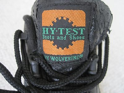 Hy-Test by Wolverine Men's Black Leather Upper Steel Toe Safety Shoes Size 8 ½