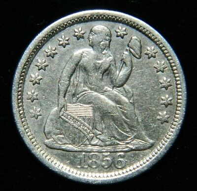1856 Seated Liberty Dime Large Date