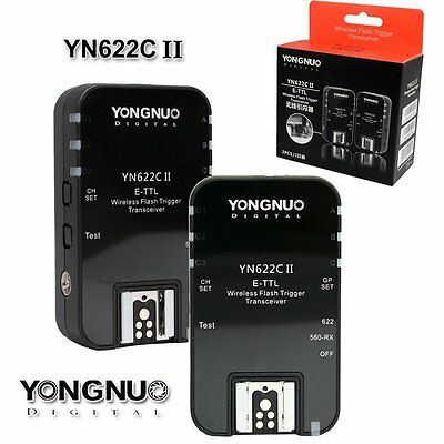 Yongnuo YN-622C II TTL Wireless Flash Trigger Set for Canon 550D 650D 70D 60D