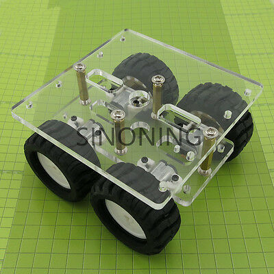 transparency Acrylic N20 4WD Two layer Smart car chassis robot DIY kit