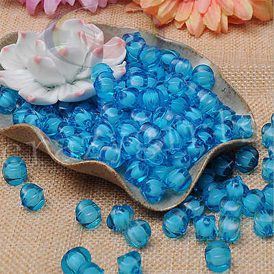 Lot 50pcs Sky Blue Watermelon Acrylic Beads  In Baeds For Jewelry Finding 10mm